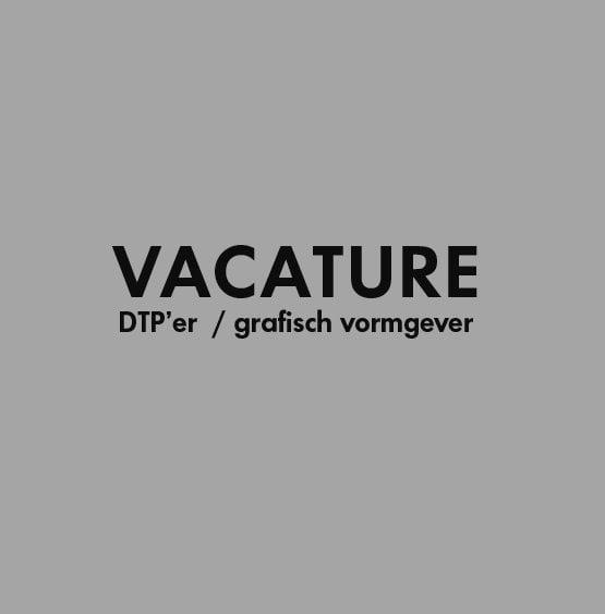 Vacature DTP'er grafisch vormgever